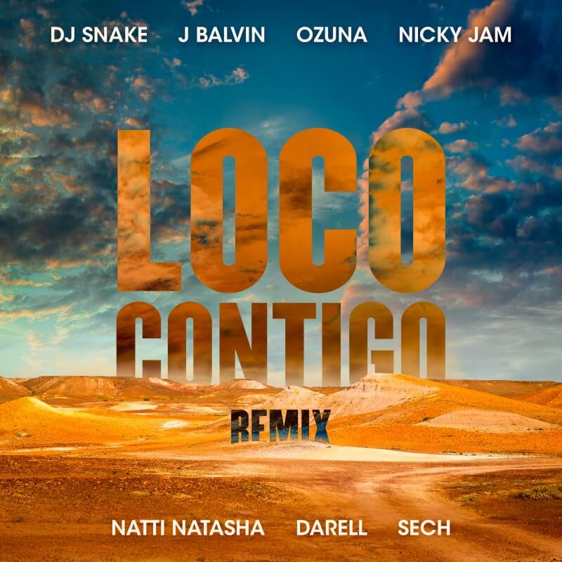 Loco Contigo Remix Artwork