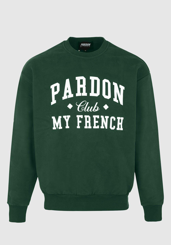 CREW NECK JUMPER PARDON MY FRENCH CLUB GREEN